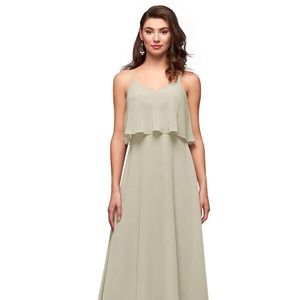Azazie Desiree Bridesmaid Dress in Taupe